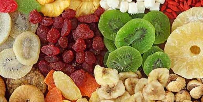 Las ventajas de la fruta deshidratada