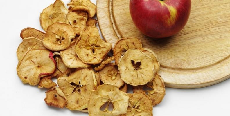 La manzana deshidratada, una excelente opción para tu salud