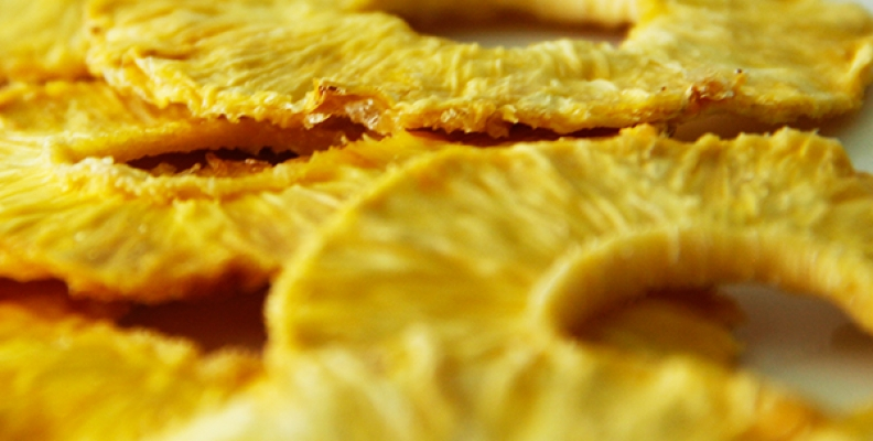Las bondades de la piña deshidratada, una excelente opción para tu dieta